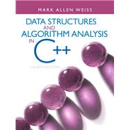 Data Structures and Algorithm Analysis in C++ by Weiss, Mark A., 9780132847377
