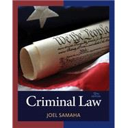 Criminal Law by Samaha, 9781305577381