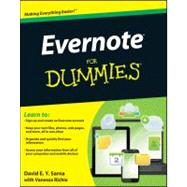 Evernote For Dummies by Sarna, David E. Y.; Richie, Vanessa, 9781118107386
