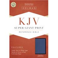 KJV Super Giant Print Reference Bible, Cobalt Blue LeatherTouch by Holman Bible Staff, 9781433617386