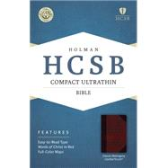 HCSB Compact Ultrathin Bible, Classic Mahogany LeatherTouch by Holman Bible Staff, 9781433607394