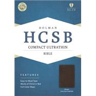 HCSB Compact Ultrathin Bible, Brown Genuine Cowhide by Holman Bible Staff, 9781433607400