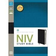 Holy Bible: New International Version Black Top Grain Leather Study Bible by Zondervan Publishing House, 9780310437406