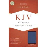 KJV Ultrathin Reference Bible, Cobalt Blue LeatherTouch, Indexed by Holman Bible Staff, 9781433617430