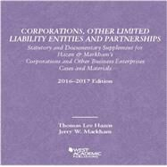 Corporations, Other Limited Liability Entities Partnerships by Hazen, Thomas; Markham, Jerry, 9781634607438