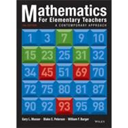 Mathematics for Elementary Teachers: A Contemporary Approach, Tenth Edition by Musser, 9781118457443