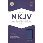 NKJV Compact Ultrathin Bible, Cobalt Blue LeatherTouch by Holman Bible Staff, 9781433617454