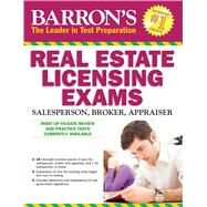 Barron's Real Estate Licensing Exams by Friedman, Jack P., Ph.D.; Linderman, J. Bruce, Ph.D., 9781438007458