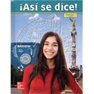 Asi se Dice Level 1 Student Textbook by MHE, 9780021367474