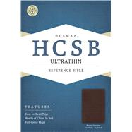 HCSB Ultrathin Reference Bible, Brown Genuine Cowhide Indexed by Unknown, 9781586407476