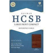 HCSB Large Print Compact Bible, Brown LeatherTouch by Holman Bible Staff, 9781586407483