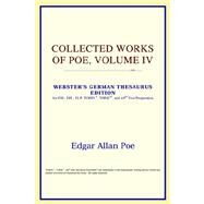 Collected Works of Poe : Webster's German Thesaurus Edition by ICON Reference, 9780497257491
