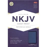 NKJV Giant Print Reference Bible, Cobalt Blue LeatherTouch, Indexed by Holman Bible Staff, 9781433617492