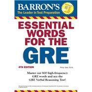 Barron's Essential Words for the GRE by Geer, Phillip, 9781438007496