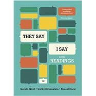 They Say / I Say: The Moves That Matter in Academic Writing, With Readings by Graff, Gerald; Birkenstein, Cathy; Durst, Russel, 9780393937510