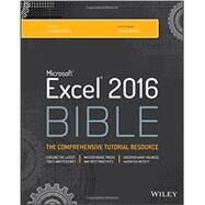 Microsoft Excel 2016 Bible by Walkenbach, John, 9781119067511