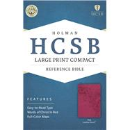 HCSB Large Print Compact Bible, Pink LeatherTouch by Holman Bible Staff, 9781586407520