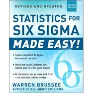 Statistics for Six Sigma Made Easy! Revised and Expanded Second Edition by Brussee, Warren, 9780071797535