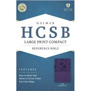 HCSB Large Print Compact Bible, Purple LeatherTouch by Holman Bible Staff, 9781586407537
