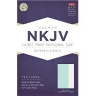 NKJV Large Print Personal Size Reference Bible, Mint Green LeatherTouch, Indexed by Holman Bible Staff, 9781433617539