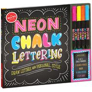 Neon Chalk Lettering by Editors Of Klutz, 9781338037548