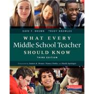 What Every Middle School Teacher Should Know by Brown, Dave F.; Knowles, Trudy; Beane, James A.; Nancy, Doda; Mark, Springer, 9780325057552