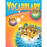 Vocabulary for Achievement: First Course* by Richek, Margaret Ann, 9780669517552