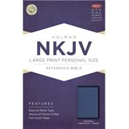 NKJV Large Print Personal Size Reference Bible, Cobalt Blue LeatherTouch, Indexed by Holman Bible Staff, 9781433617553