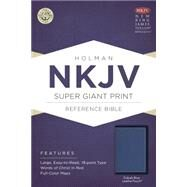 NKJV Super Giant Print Reference Bible, Cobalt Blue LeatherTouch by Holman Bible Staff, 9781433607554