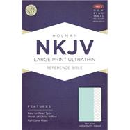 NKJV Large Print Ultrathin Reference Bible, Mint Green LeatherTouch, Indexed by Holman Bible Staff, 9781433617577