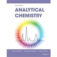 Analytical Chemistry by Christian, Gary D.; Dasgupta, Purnendu K.; Schug, Kevin A., 9780470887578