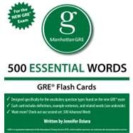 500 Essential Words, 1st Edition : Manhattan GRE Vocabulary Flash Cards by - Manhattan GRE, 9781935707578