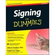 Signing For Dummies, with Video CD by Penilla, Adan R.; Taylor, Angela Lee, 9781118117583