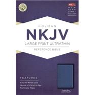 NKJV Large Print Ultrathin Reference Bible, Cobalt Blue LeatherTouch by Holman Bible Staff, 9781433617584