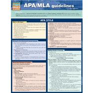 Quick Study Academic APA/MLA Guidelines for Students by Smith, Thomas, 9781423217589