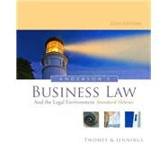 Anderson's Business Law and the Legal Environment, Standard Volume by Twomey, David P.; Jennings, Marianne M., 9781133587590