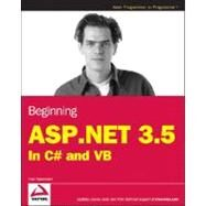 Beginning ASP.NET 3.5 : In C# and VB by Spaanjaars, Imar, 9780470187593