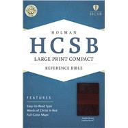 HCSB Large Print Compact Bible, Saddle Brown LeatherTouch by Unknown, 9781586407605