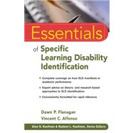 Essentials of Specific Learning Disability Identification by Flanagan, Dawn P.; Alfonso, Vincent C., 9780470587607