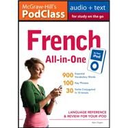 McGraw-Hill's PodClass French All-in-One Study Guide (MP3 Disk) Language Reference and Review for Your iPod by Chapin, Alex, 9780071627627
