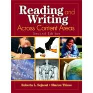 Reading and Writing Across Content Areas 9781412937627U