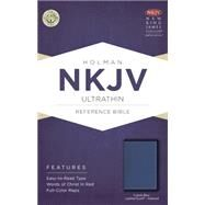NKJV Ultrathin Reference Bible, Cobalt Blue LeatherTouch, Indexed by Holman Bible Staff, 9781433617638
