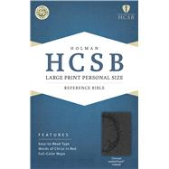 HCSB Large Print Personal Size Bible, Charcoal LeatherTouch Indexed by Holman Bible Staff, 9781586407667