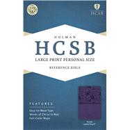 HCSB Large Print Personal Size Bible, Purple LeatherTouch by Holman Bible Staff, 9781586407711