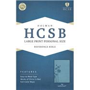 HCSB Large Print Personal Size Bible, Teal LeatherTouch by Holman Bible Staff, 9781586407735