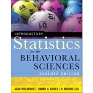Introductory Statistics for the Behavioral Sciences by Welkowitz, Joan, 9780470907764