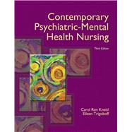 Contemporary Psychiatric-Mental Health Nursing by Kneisl, Carol Ren; Trigoboff, Eileen, 9780132557771