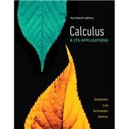 Calculus & Its Applications by Goldstein, Larry J.; Lay, David C.; Schneider, David I.; Asmar, Nakhle H., 9780134437774