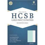 HCSB Large Print Ultrathin Reference Bible, Mint Green LeatherTouch by Holman Bible Staff, 9781433617775