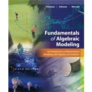 Fundamentals of Algebraic Modeling by Timmons, Daniel L.; Johnson, Catherine W.; McCook, Sonya, 9781133627777